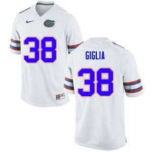 Men #38 Anthony Giglia Florida Gators College Football Jerseys White 580303-582
