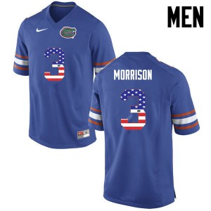 Men Florida Gators #3 Antonio Morrison College Football USA Flag Fashion Blue 386888-196