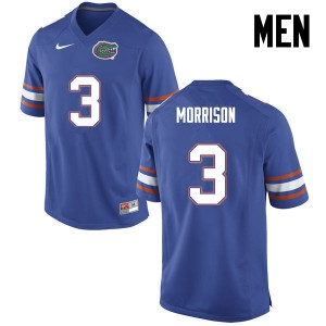 Men Florida Gators #3 Antonio Morrison College Football Blue 836724-441
