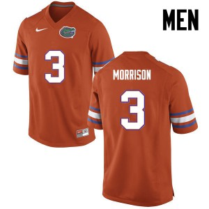 Men Florida Gators #3 Antonio Morrison College Football Orange 830222-739