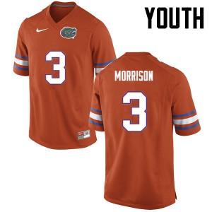 Youth Florida Gators #3 Antonio Morrison College Football Orange 162974-966