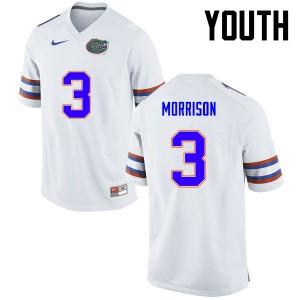 Youth Florida Gators #3 Antonio Morrison College Football White 658565-957
