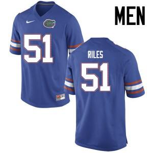 Men Florida Gators #51 Antonio Riles College Football Jerseys Blue 598525-906