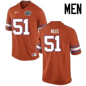 Men Florida Gators #51 Antonio Riles College Football Jerseys Orange 579744-755