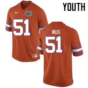 Youth Florida Gators #51 Antonio Riles College Football Jerseys Orange 722650-864