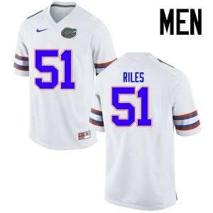 Men Florida Gators #51 Antonio Riles College Football Jerseys White 925030-770