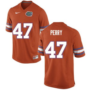 Men #47 Austin Perry Florida Gators College Football Jerseys Orange 533632-497