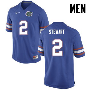 Men Florida Gators #2 Brad Stewart College Football Blue 557335-584