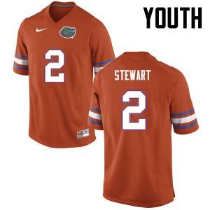 Youth Florida Gators #2 Brad Stewart College Football Orange 771692-992