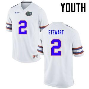 Youth Florida Gators #2 Brad Stewart College Football White 826969-535