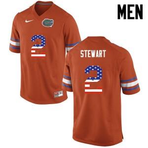 Men Florida Gators #2 Brad Stewart College Football USA Flag Fashion Orange 507163-841