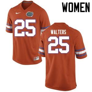 Women Florida Gators #25 Brady Walters College Football Jerseys Orange 119542-948