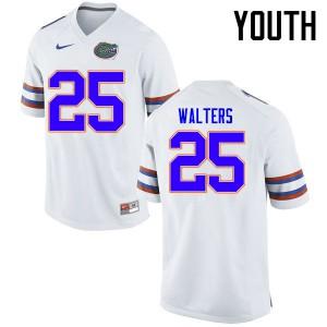 Youth Florida Gators #25 Brady Walters College Football Jerseys White 839292-446
