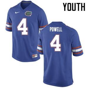 Youth Florida Gators #4 Brandon Powell College Football Jerseys Blue 816181-419