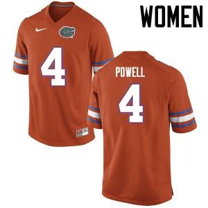 Women Florida Gators #4 Brandon Powell College Football Jerseys Orange 906193-370