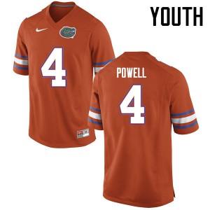 Youth Florida Gators #4 Brandon Powell College Football Jerseys Orange 684134-642