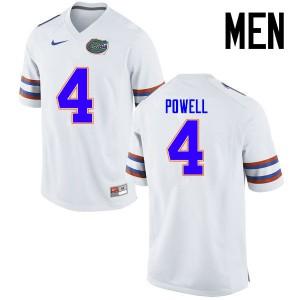 Men Florida Gators #4 Brandon Powell College Football Jerseys White 346449-392