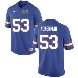 Men #53 Brendan Ackerman Florida Gators College Football Jerseys Blue 417186-292
