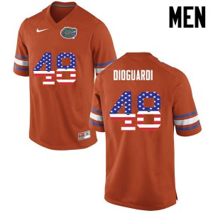 Men Florida Gators #48 Brett DioGuardi College Football USA Flag Fashion Orange 647430-679