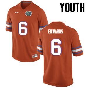 Youth Florida Gators #6 Brian Edwards College Football Orange 551713-838