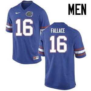 Men Florida Gators #16 Brian Fallace College Football Jerseys Blue 950309-893