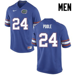 Men Florida Gators #24 Brian Poole College Football Blue 681697-715