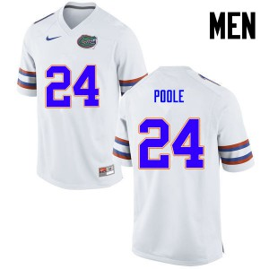 Men Florida Gators #24 Brian Poole College Football White 381122-357