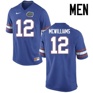 Men Florida Gators #12 C.J. McWilliams College Football Jerseys Blue 216685-882