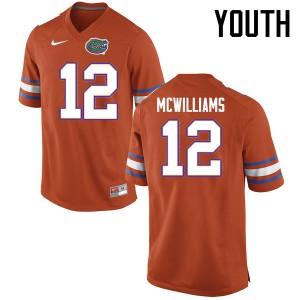 Youth Florida Gators #12 C.J. McWilliams College Football Jerseys Orange 293806-252