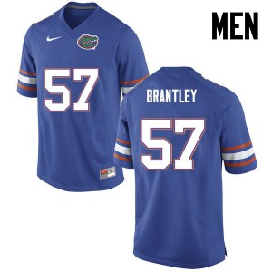 Men Florida Gators #57 Caleb Brantley College Football Blue 997859-182