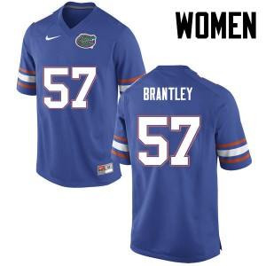Women Florida Gators #57 Caleb Brantley College Football Blue 941729-341