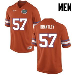 Men Florida Gators #57 Caleb Brantley College Football Orange 833207-693