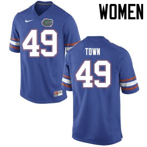 Women Florida Gators #49 Cameron Town College Football Jerseys Blue 950207-656