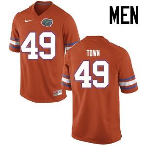 Men Florida Gators #49 Cameron Town College Football Jerseys Orange 127009-227