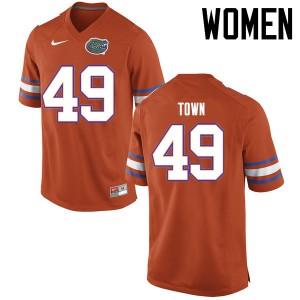 Women Florida Gators #49 Cameron Town College Football Jerseys Orange 706130-900