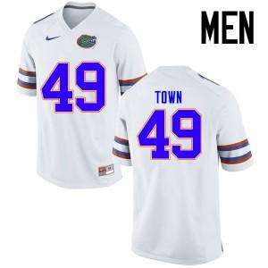 Men Florida Gators #49 Cameron Town College Football Jerseys White 357249-615