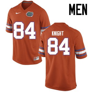 Men Florida Gators #84 Camrin Knight College Football Jerseys Orange 469864-835