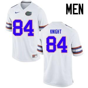 Men Florida Gators #84 Camrin Knight College Football Jerseys White 766989-933