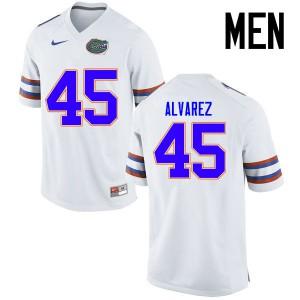 Men Florida Gators #45 Carlos Alvarez College Football Jerseys White 928197-230