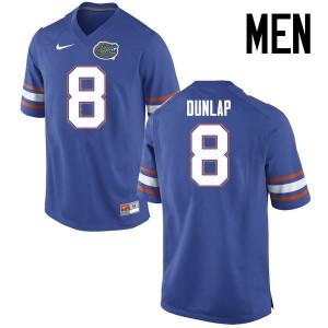 Men Florida Gators #8 Carlos Dunlap College Football Jerseys Blue 805195-195