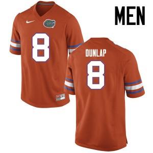 Men Florida Gators #8 Carlos Dunlap College Football Jerseys Orange 226409-262