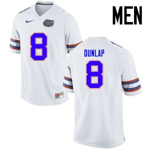 Men Florida Gators #8 Carlos Dunlap College Football Jerseys White 678968-891