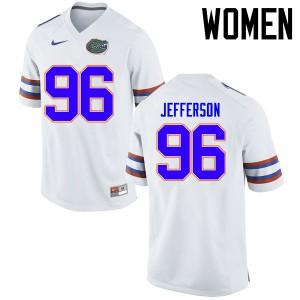 Women Florida Gators #96 Cece Jefferson College Football Jerseys White 727898-785