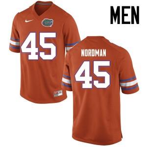 Men Florida Gators #45 Charles Nordman College Football Jerseys Orange 941695-899