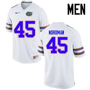 Men Florida Gators #45 Charles Nordman College Football Jerseys White 451396-204