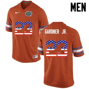 Men Florida Gators #23 Chauncey Gardner Jr. College Football USA Flag Fashion Orange 726086-470
