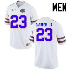 Men Florida Gators #23 Chauncey Gardner Jr. College Football Jerseys White 945179-782