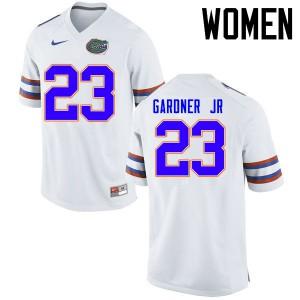 Women Florida Gators #23 Chauncey Gardner Jr. College Football Jerseys White 586697-813