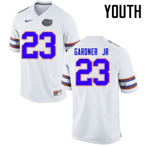 Youth Florida Gators #23 Chauncey Gardner Jr. College Football Jerseys White 633458-659