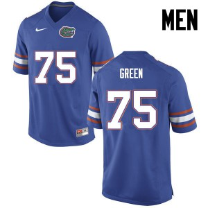 Men Florida Gators #75 Chaz Green College Football Blue 368061-306